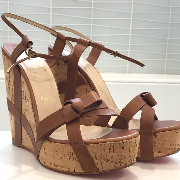 cc1a9378acb Christian Louboutin | Miss Cristo Wedge Sandals NWT
